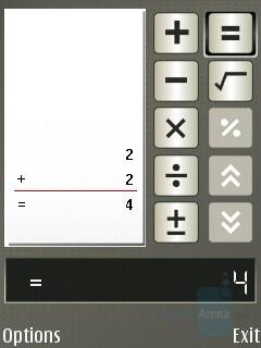 Calculator - Nokia E65 Review