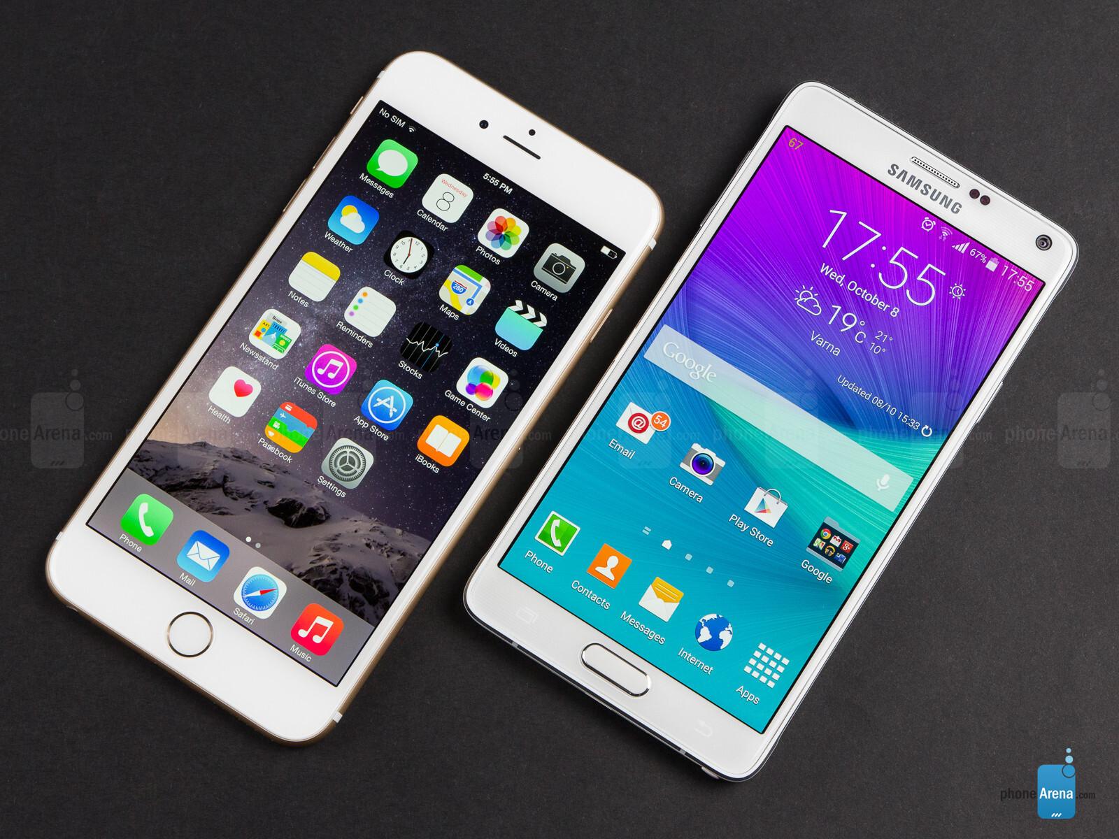 samsung note 4 vs iphone 6 plus