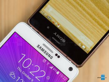 Samsung Galaxy Note 4 vs Sony Xperia Z3
