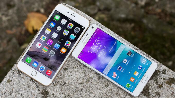 Samsung Galaxy Note 4 vs Apple iPhone 6 Plus