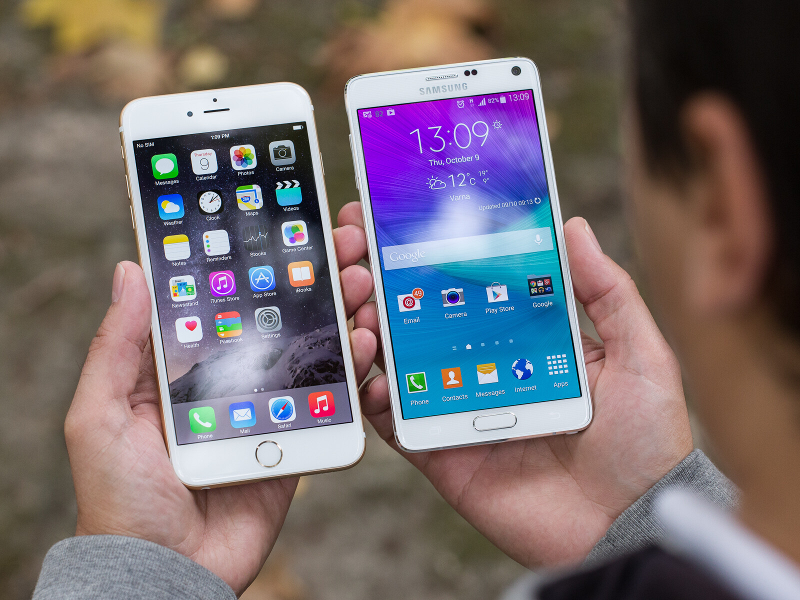 SAMSUNG GALAXY NOTE 4 VS IPHONE 6