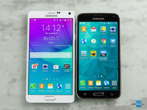 Samsung Galaxy Note 4 vs Samsung Galaxy S5