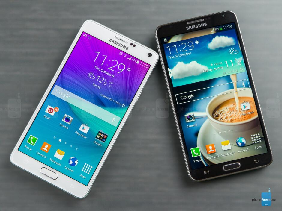 Samsung Galaxy Note 4 vs Samsung Galaxy Note 3