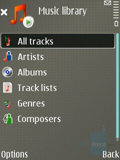 Music player interface - Nokia E65 Review