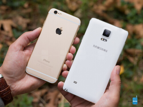 Samsung Galaxy Note 4 vs Apple iPhone 6