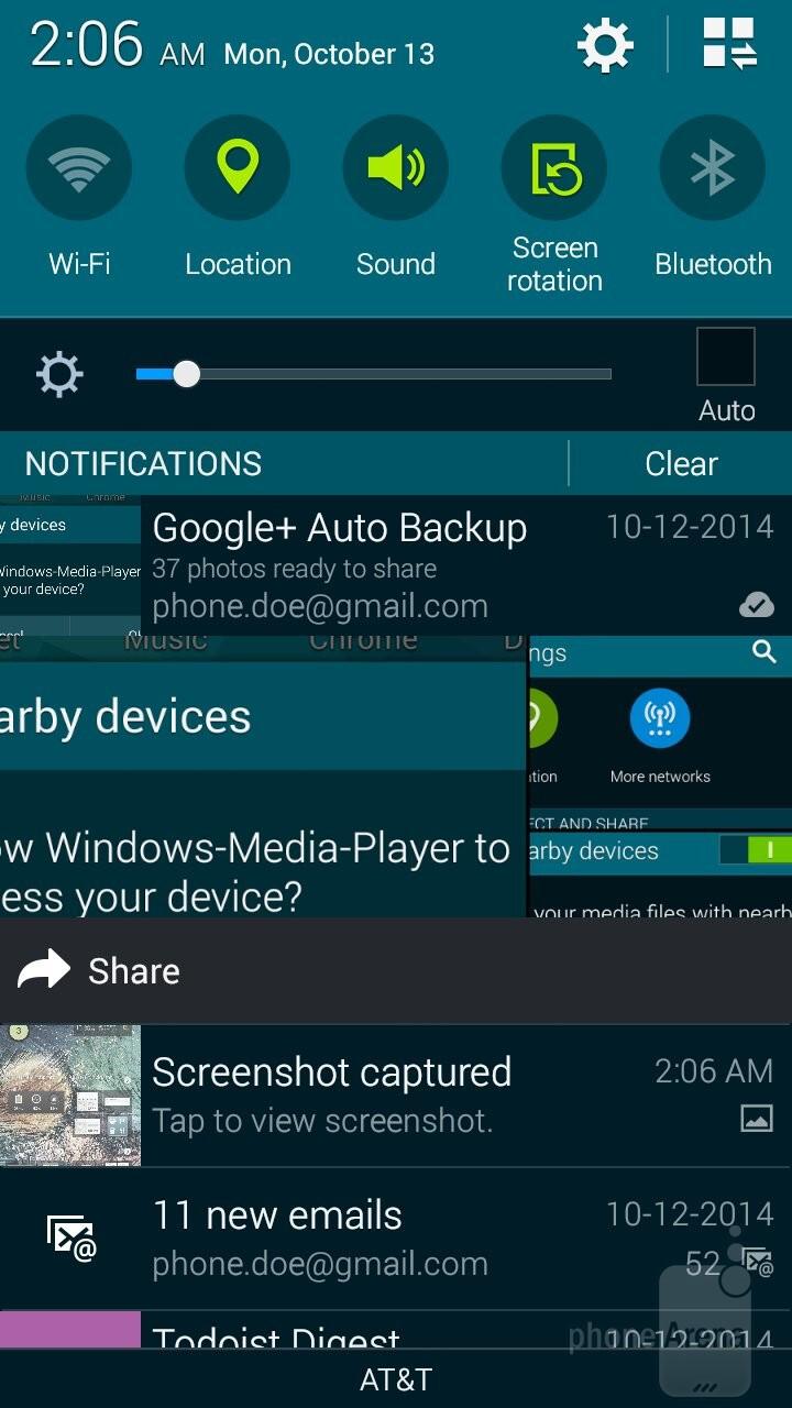 UI of the Samsung Galaxy Alpha - Samsung Galaxy Alpha vs Sony Xperia Z3 Compact