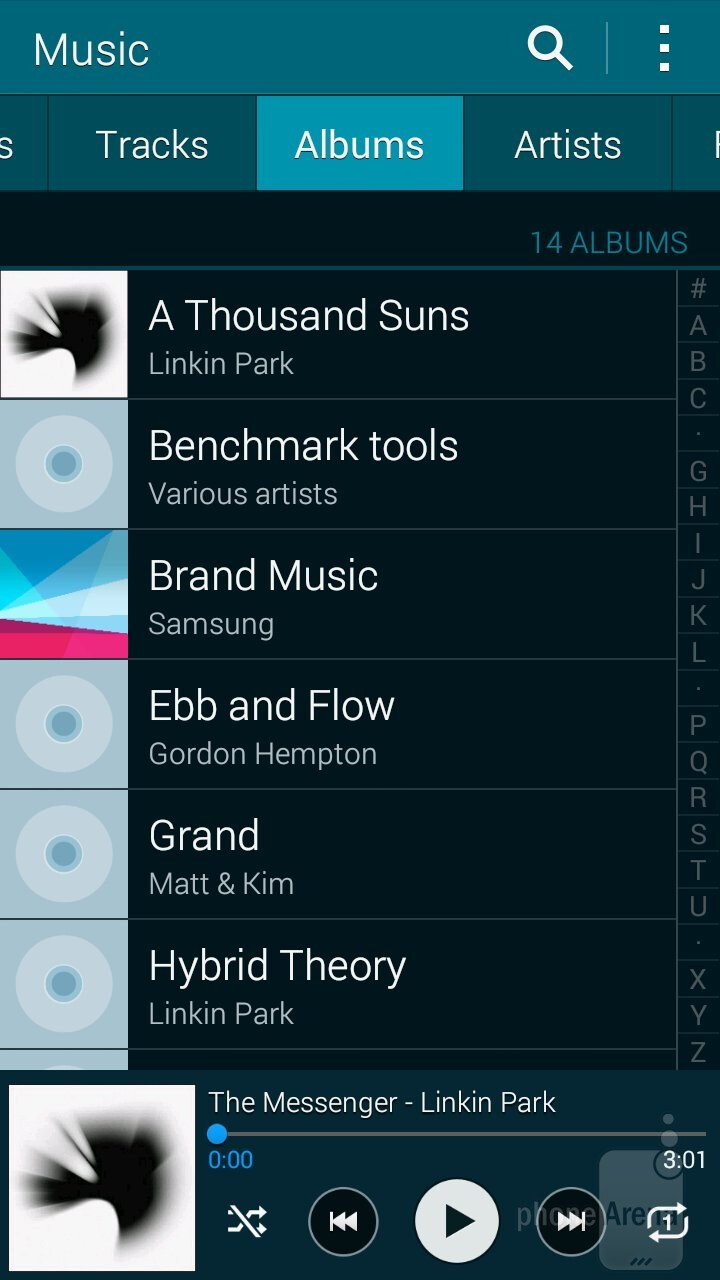 Samsung Galaxy Alpha - Music players - Samsung Galaxy Alpha vs Sony Xperia Z3 Compact