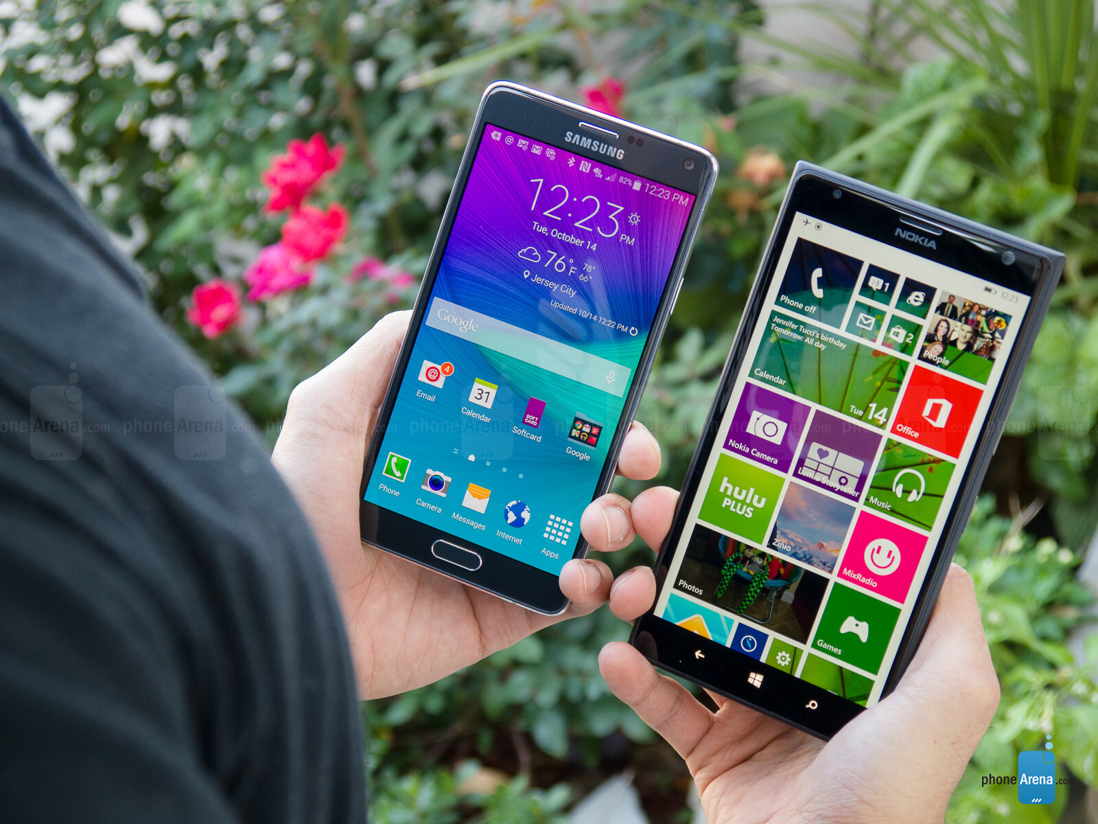 samsung galaxy note 4 vs nokia lumia 1520 phonearena. Black Bedroom Furniture Sets. Home Design Ideas