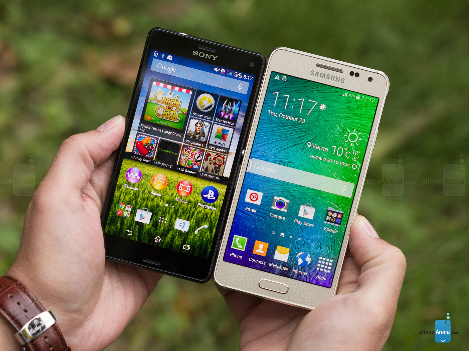 samsung galaxy alpha vs sony xperia z3 compact. Black Bedroom Furniture Sets. Home Design Ideas