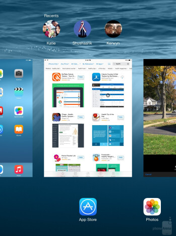 The Apple iPad Air 2 runs iOS 8 - Google Nexus 9 vs Apple iPad Air 2