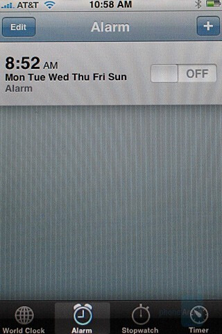 Alarm clock - Apple iPhone Review