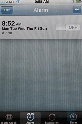 Alarm clock - Apple iPhone Review