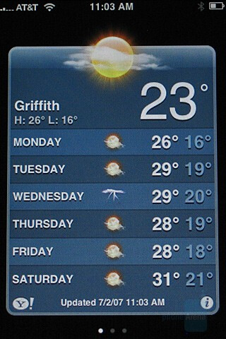 Weather - Apple iPhone Review