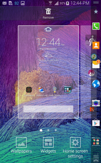 The UI of the Samsung Galaxy Note Edge - Samsung Galaxy Note Edge vs LG G3