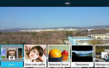 Camera interface of the Samsung Galaxy Note Edge - Samsung Galaxy Note Edge vs LG G3