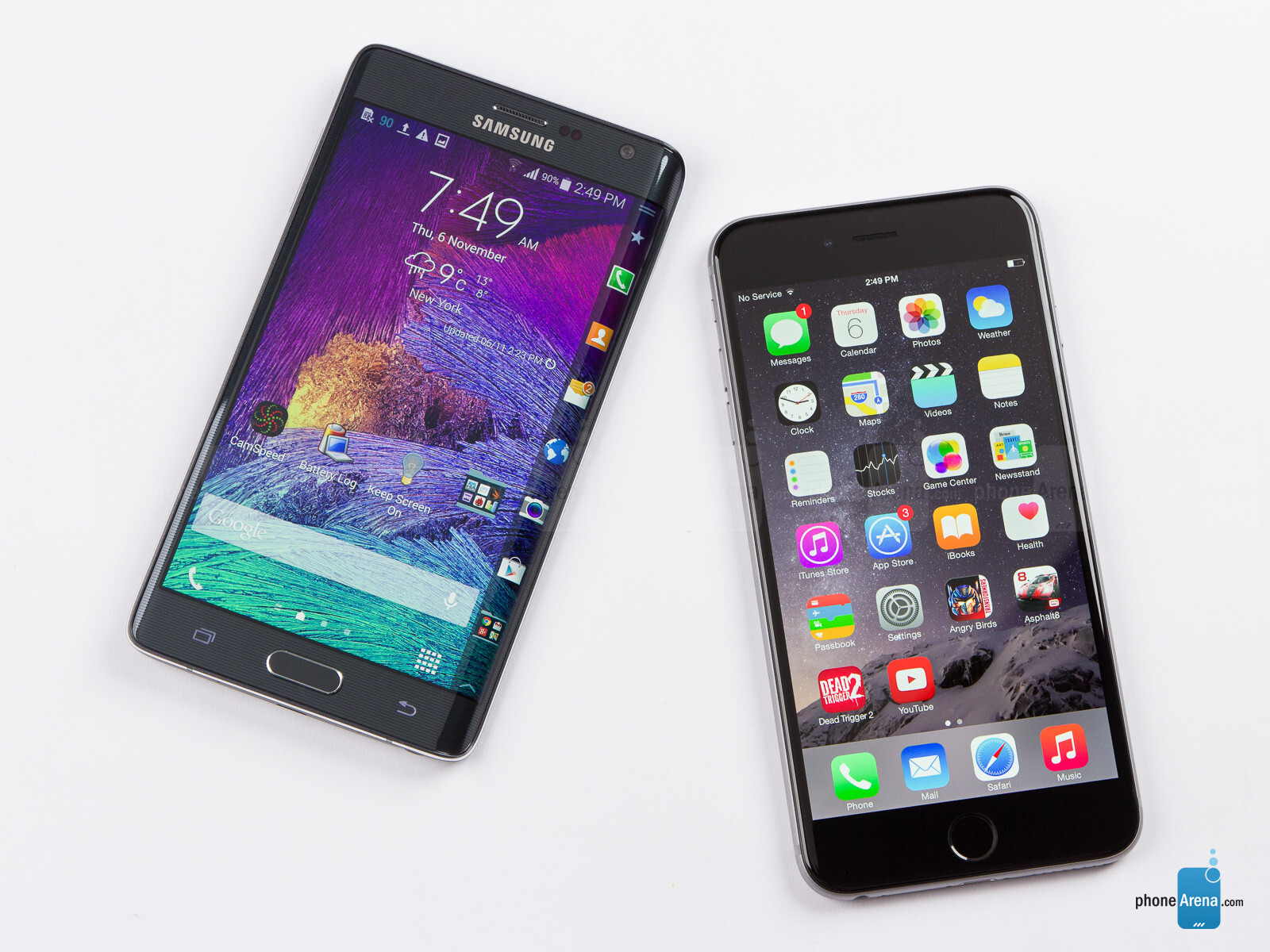 samsung galaxy note edge vs apple iphone 6 plus phonearena. Black Bedroom Furniture Sets. Home Design Ideas