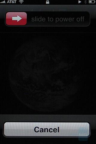 Shutdown screen - Apple iPhone Review