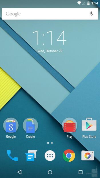 Google Nexus 6 is running Android 5.0 Lollipop - Google Nexus 6 vs Apple iPhone 6 Plus
