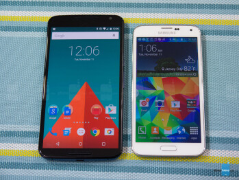Google Nexus 6 vs Samsung Galaxy S5