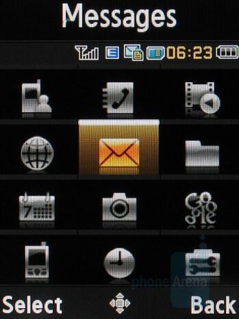 Main menu - Samsung U700 Ultra 12.1 Review