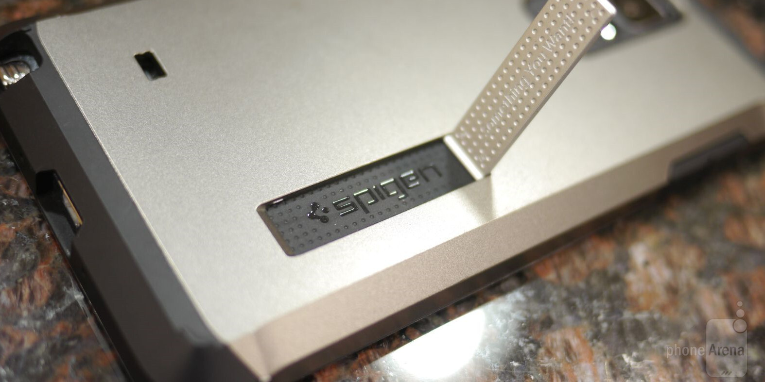 online store aa2a1 d01c0 Spigen Tough Armor Case for Samsung Galaxy Note 4 Review - PhoneArena