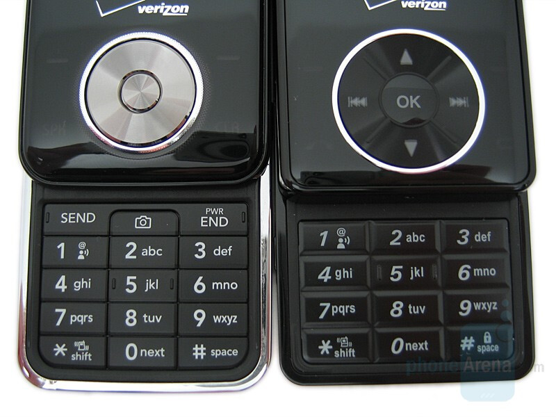 LG VX8550 and VX8500 Chocolate phones comparison - LG VX8550 Chocolate Review