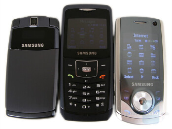 from left to right and top to bottom - SGH-U300, SGH-U100, SGH-U700 - Samsung U100 Ultra 5.9 Review