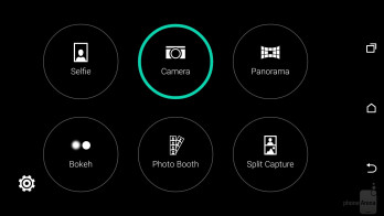 Camera interface of the HTC One M9 - LG G4 vs HTC One M9