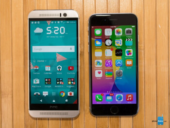 HTC One M9 vs Apple iPhone 6