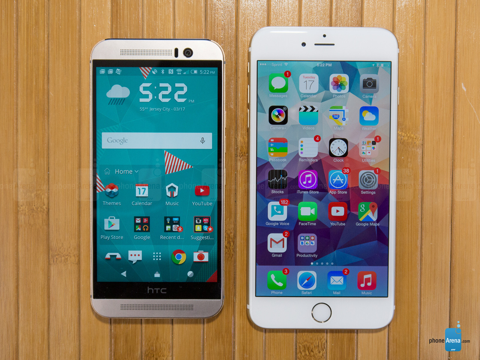 htc one m9 vs apple iphone 6 plus. Black Bedroom Furniture Sets. Home Design Ideas