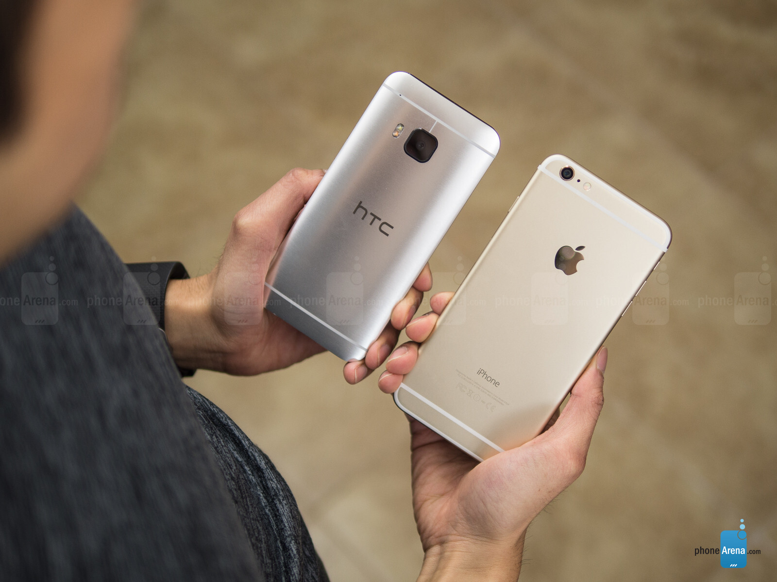 7 plus iphone vs htc one m9 größe