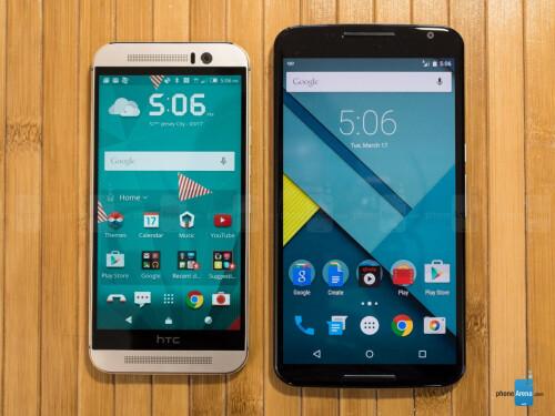 HTC One M9 vs Google Nexus 6