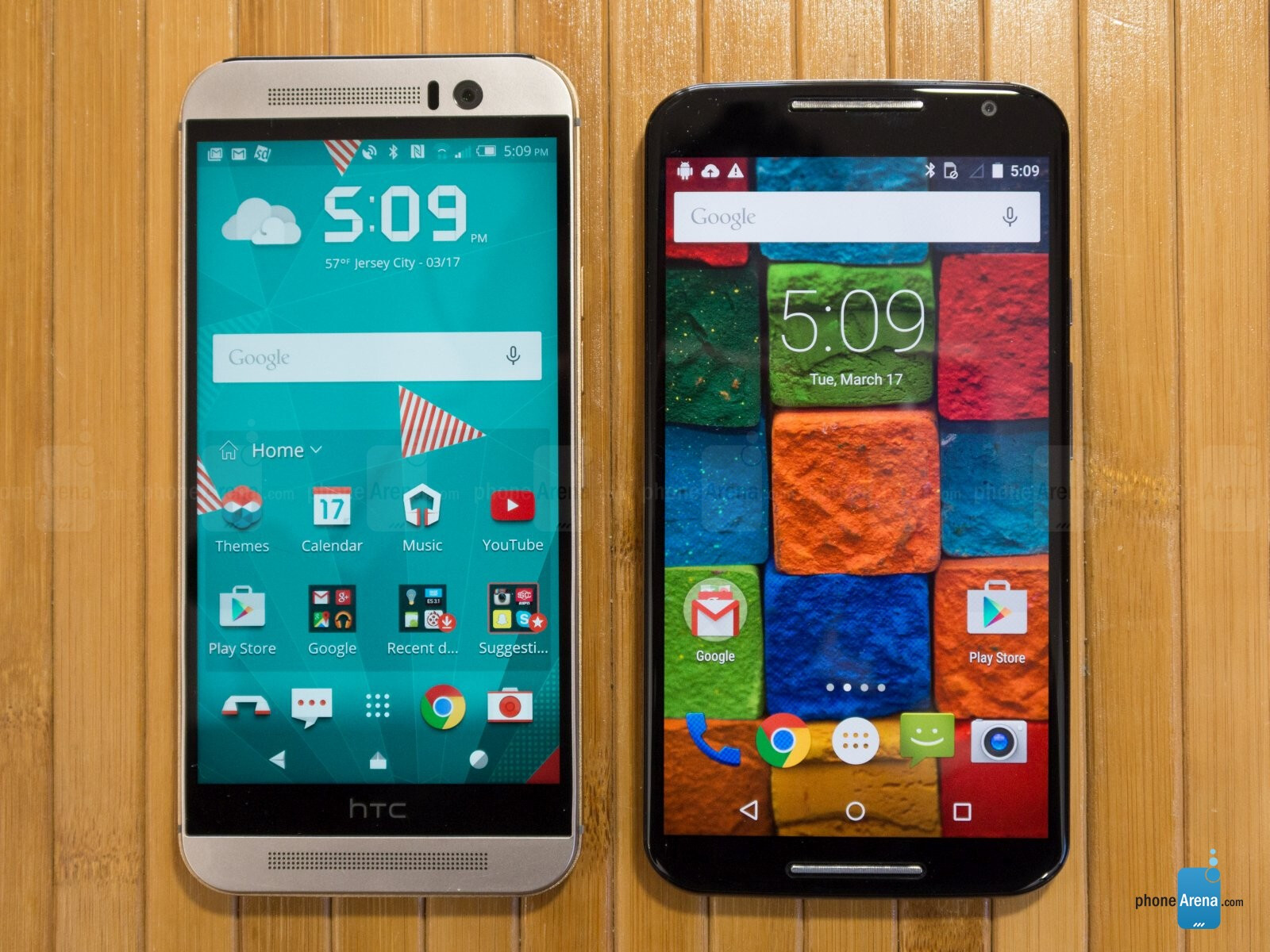 HTC One M9 vs Motorola Moto X 2014