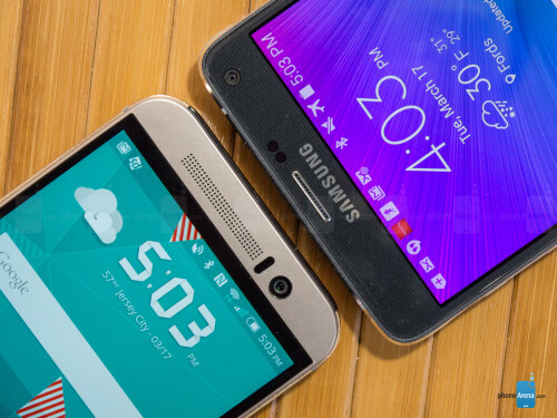 HTC One M9 vs Samsung Galaxy Note 4