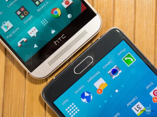 HTC One M9 vs Samsung Galaxy Note 4