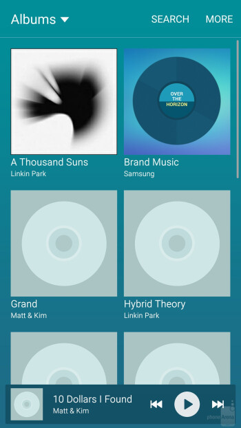 TouchWiz music player - Samsung Galaxy S6 edge - Samsung Galaxy S6 edge vs Samsung Galaxy S5