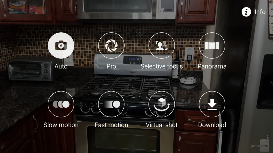 Camera interface of the Samsung Galaxy S6 edge - Samsung Galaxy S6 edge vs HTC One M9