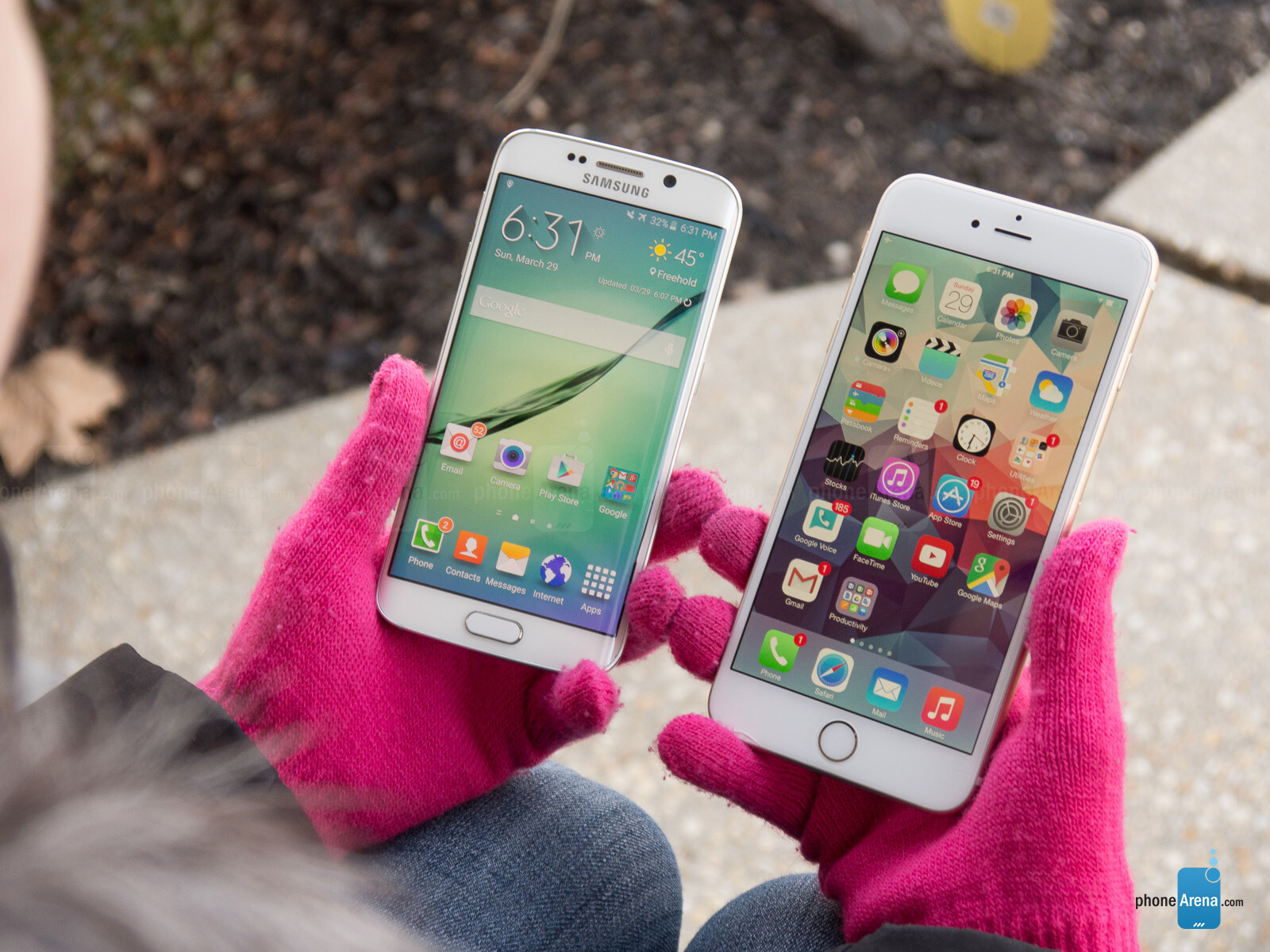 samsung galaxy s6 edge vs apple iphone 6 plus phonearena. Black Bedroom Furniture Sets. Home Design Ideas