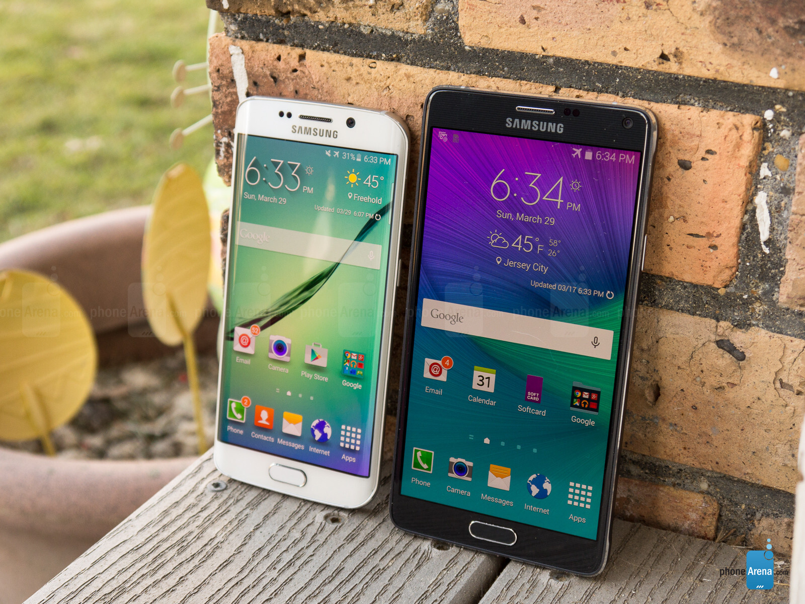 Samsung Galaxy S6 Edge Vs Note 4 3 White Gold