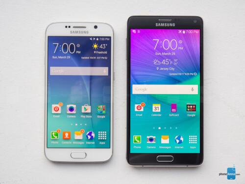 Samsung Galaxy S6 vs Samsung Galaxy Note 4