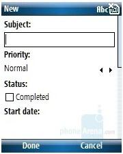Tasks - HP iPAQ 510/514 Voice Messenger Review