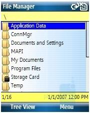 File explorer - HP iPAQ 510/514 Voice Messenger Review