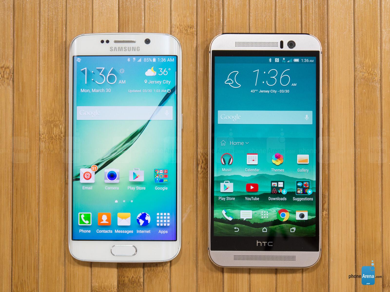 Samsung galaxy note 5 vs htc one m9 plus a comparison - Samsung Galaxy S6 Edge Vs Htc One M9