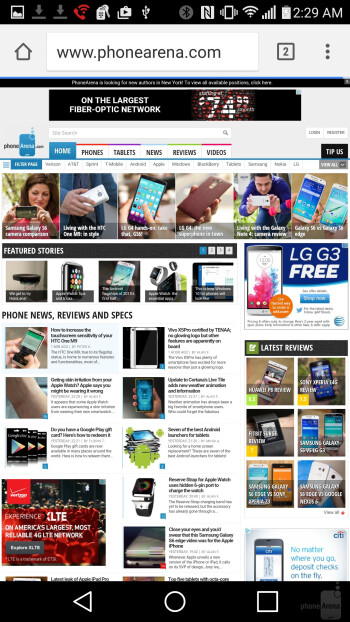 LG G4 - Internet browsing - LG G4 vs Apple iPhone 6 Plus