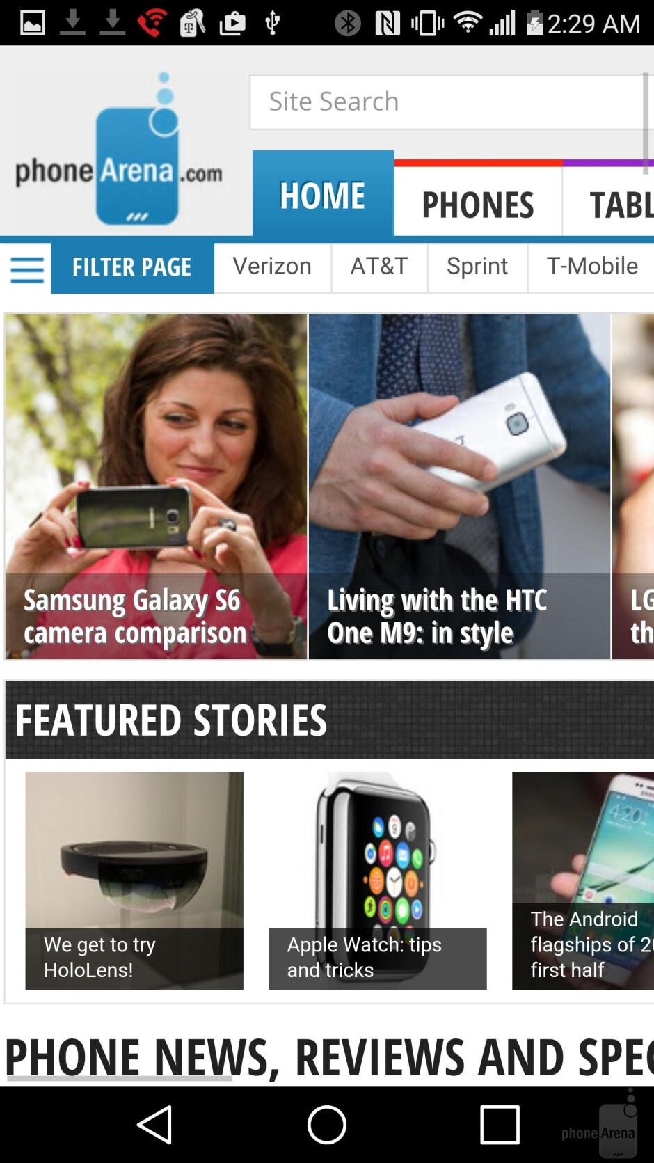 Internet browsing - LG G4 vs HTC One M9