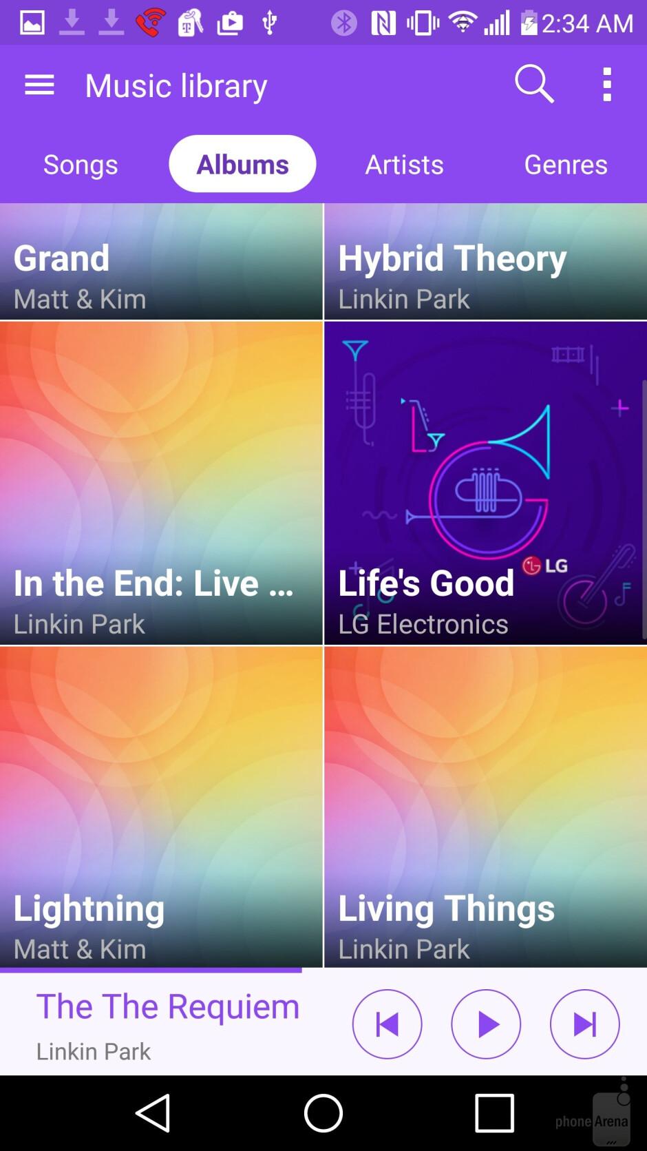 Music players - LG G4 vs HTC One M9