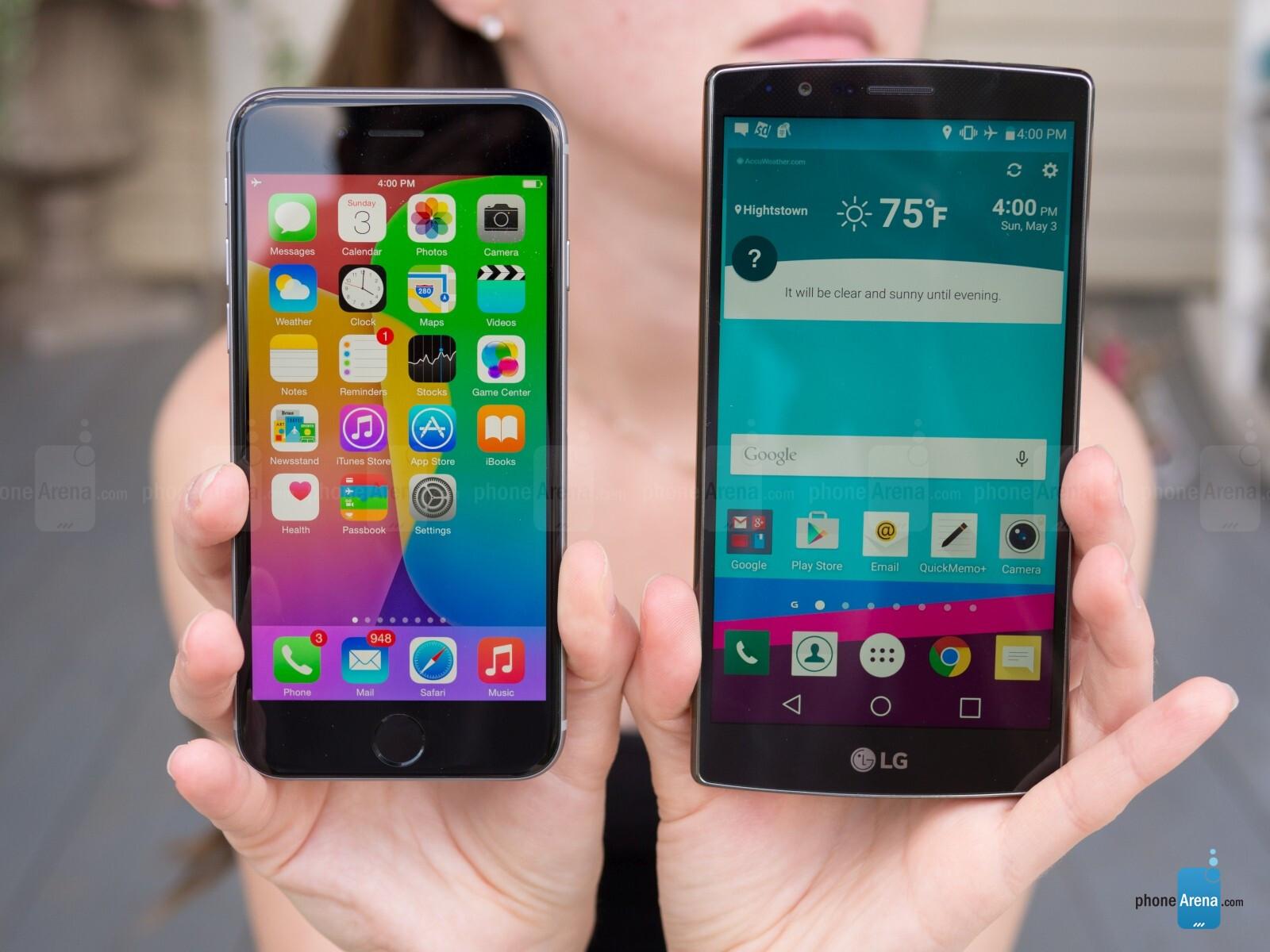 lg g4 vs apple iphone 6