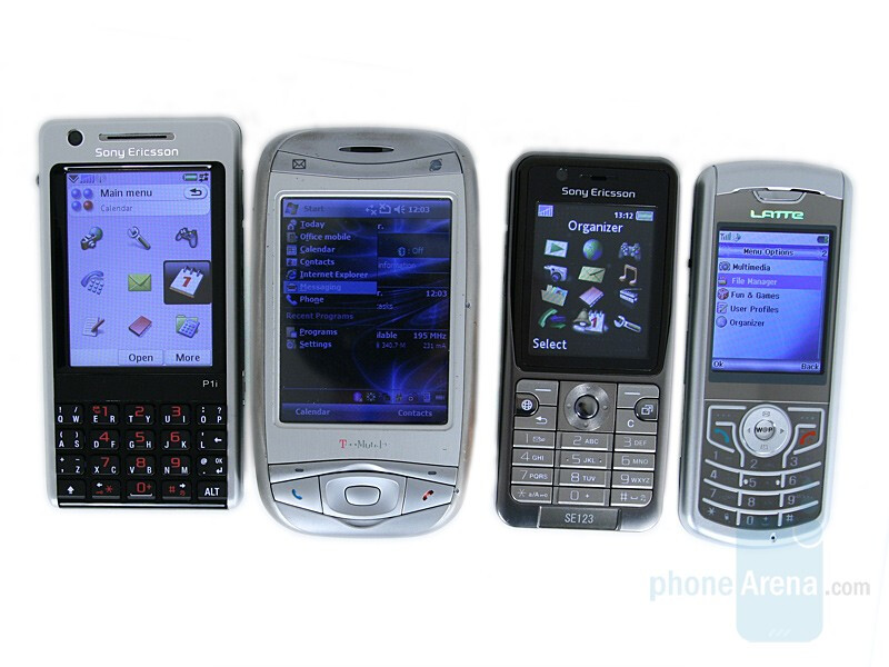 from left to right and top tobottom - Sony Ericsson P1, T-Mobile MDA, Sony Ericsson K530, LatteSlim11b - Sony Ericsson P1 Review