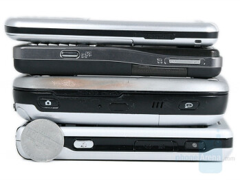 from left to right and top to bottom - Sony Ericsson P1, T-Mobile MDA, Sony Ericsson K530, Latte Slim11b - Sony Ericsson P1 Review