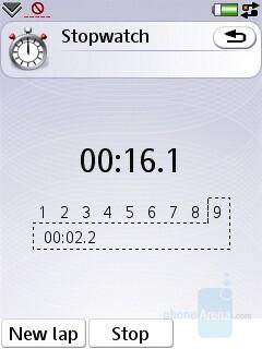 Stopwatch - Sony Ericsson P1 Review